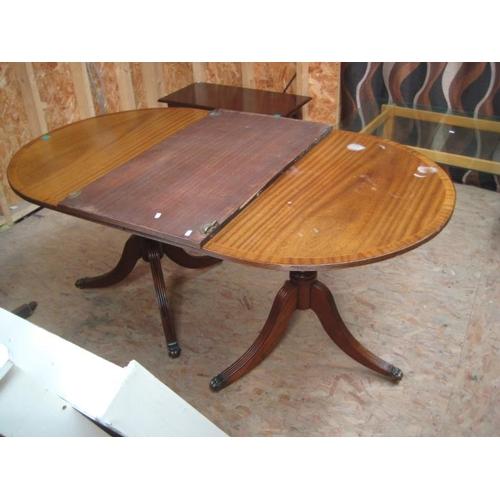 26 - Regency Style Twin Pillar Dining Table...