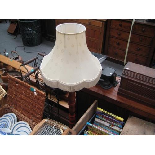269 - Turned Wood Column Standard Lamp...