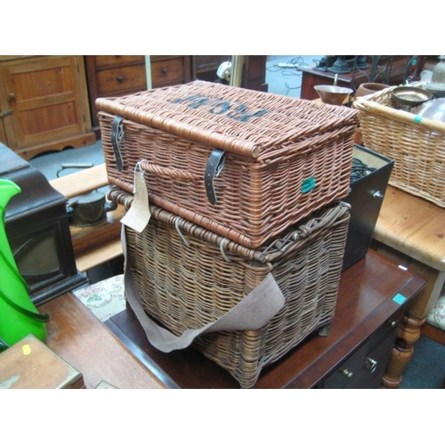 277 - Two Vintage Wicker Baskets...