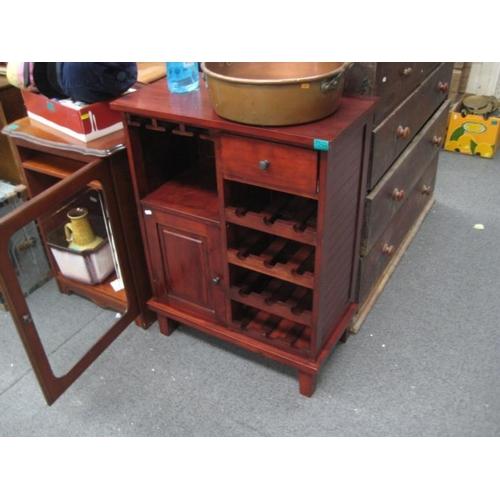 286 - Hardwood Wine Rack...