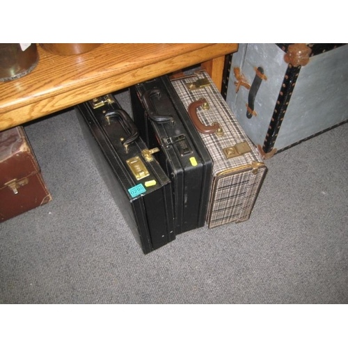 298 - 3 Old Briefcases...