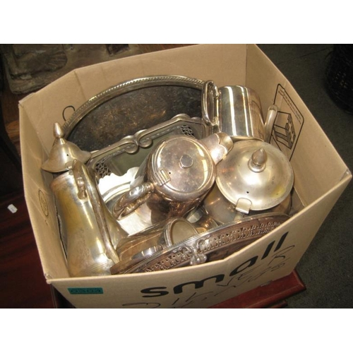 304 - Box lot of Silver Plate Items, etc...