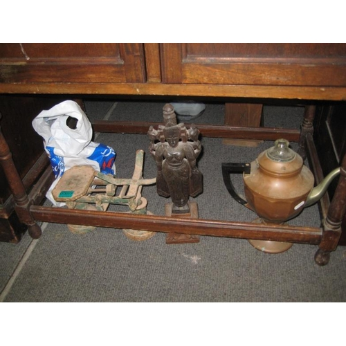 307 - Cast Iron Kitchen Scales, Vintage Perculator...