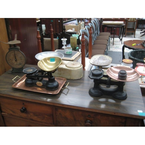 310 - 5 Vintage Weighing Scales...