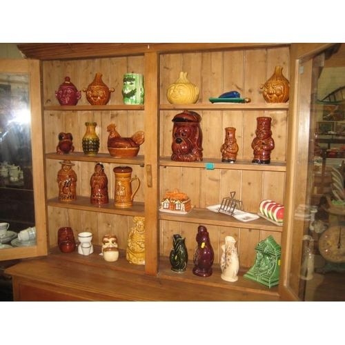 312 - Collection of Various Pottery Jugs, Biscuit...