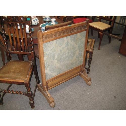 324 - Victorian Oak Firescreen...