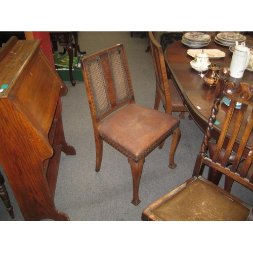 328 - Set of 6 Edwardian Walnut Dining Chairs (worm)...