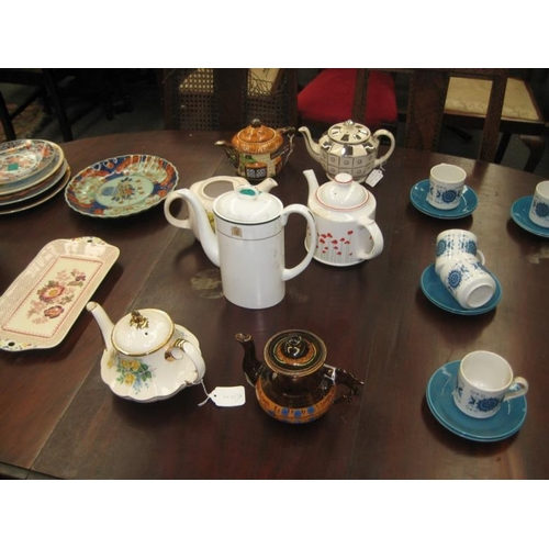 329 - Collection of 7 Vintage Porcelain Tea Pots...