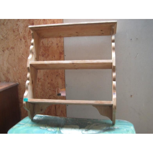 33 - Pine Hanging Wall Shelf...