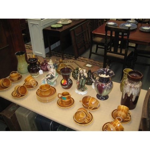 332 - Collection of German Pottery Vases and other items...