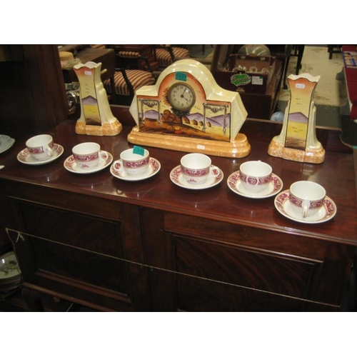 338 - 6 Tea Cups and Saucers from The Clarence Hotel,...