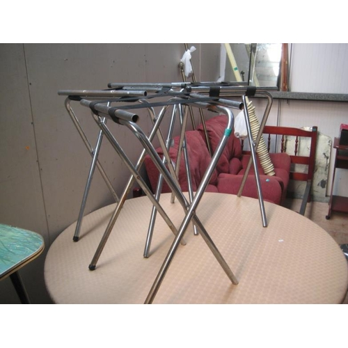 34 - 3 Hotel Tray Stands...