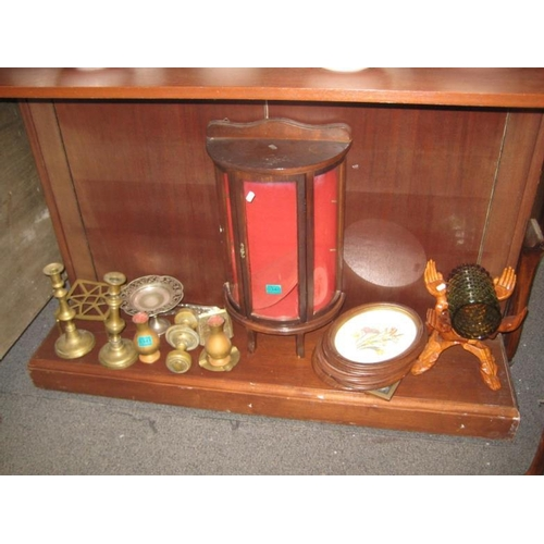 340 - Minature Display Cabinet, Hardwood Stand, Oval...