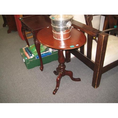 343 - Victorian Mahogany Oval Wine Table on tripod base...