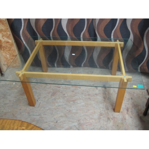 35 - Glass Top Coffee Table...
