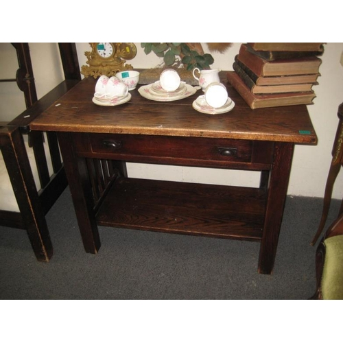 356 - Vintage Oak Side Table...
