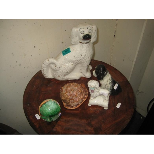 367 - Staffordshire Spaniel, 2 other Dog Ornaments...