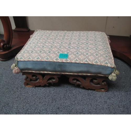 389 - Victorian Mahogany Footstool...