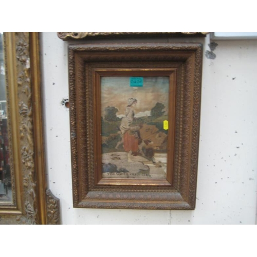406 - Victorian Needlework in a Gilt Frame