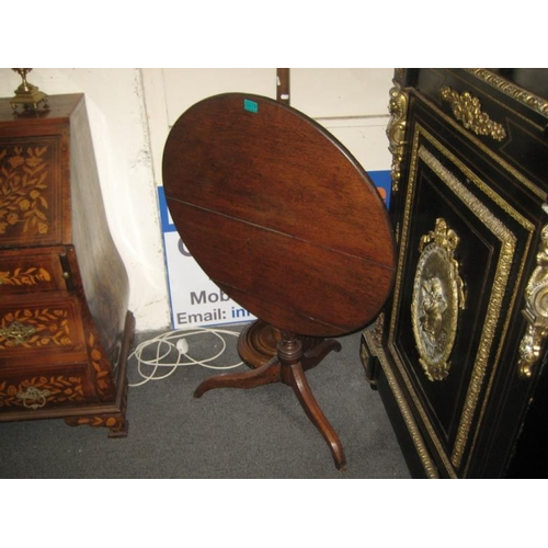 417 - Early Victorian Mahogany Tilt Top Supper Table...