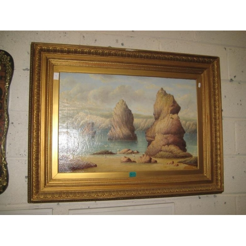 433 - Victorian Signed Oil Painting of