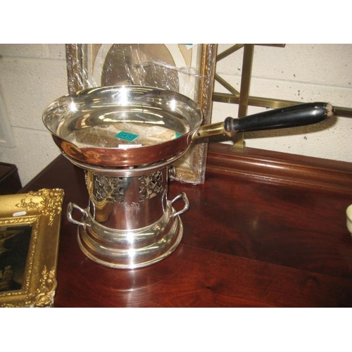 435 - Quality EPNS and Copper Chaffing Dish with burner...