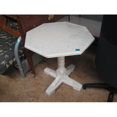 44 - White Painted Lamp Table...