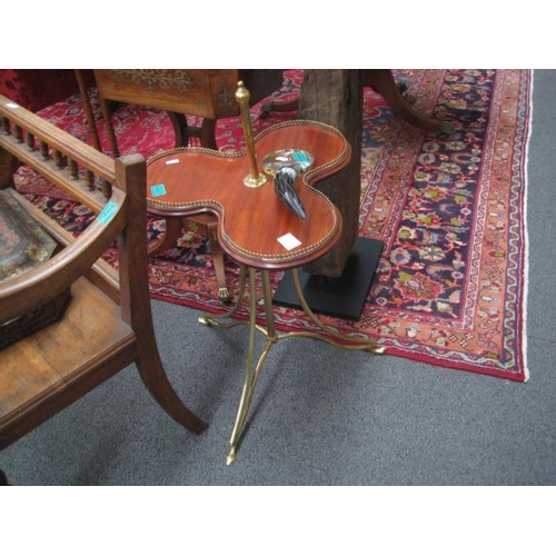 467 - Revolving French Mahogany and Brass Occasional...