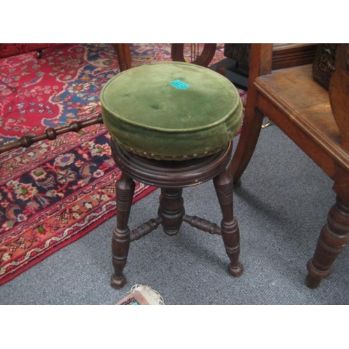 472 - Victorian Mahogany Swivel Top Piano Stool...