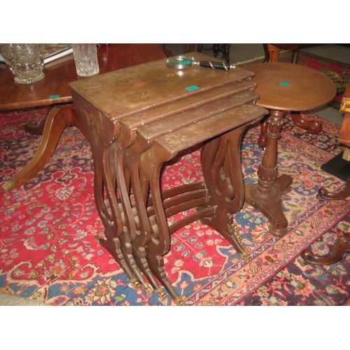 480 - Vintage Nest of 4 Laquer Tables...