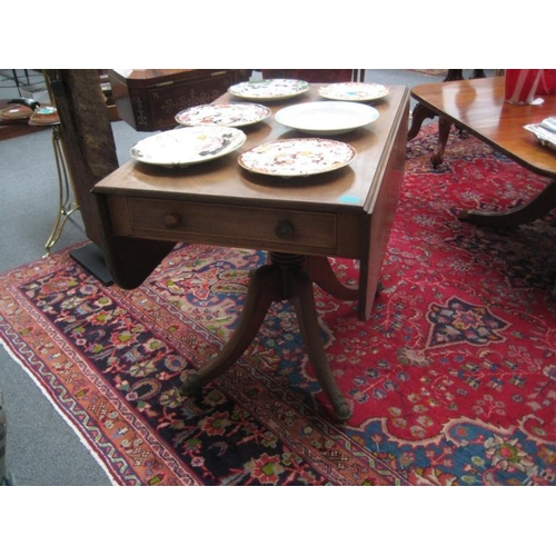 485 - Regency Mahogan Pembroke Table on single...