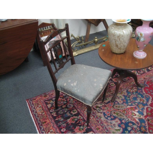 492 - Edwardian Inlaid Rosewood Occasional Chair...
