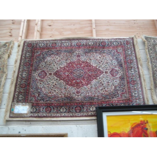 499 - Red Ground Medallion Design Kashmir Rug...