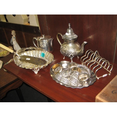504 - Collection of Silver Plate including Tea pots,...