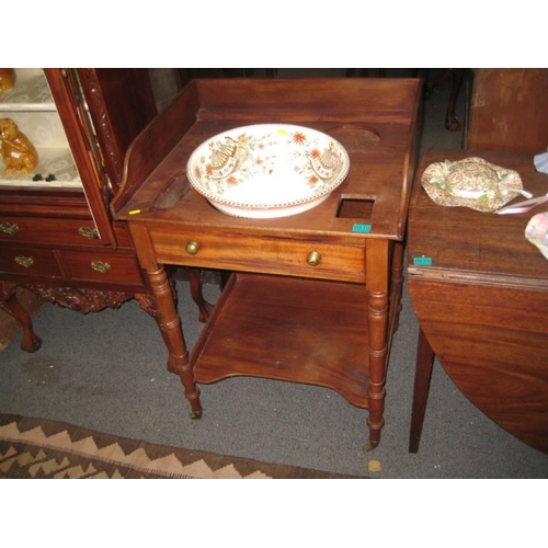 510 - Victorian Mahogany Washstand together with a...