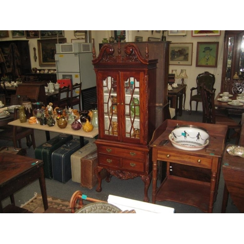 511 - Chippendale Style Narrow Display Cabinet...