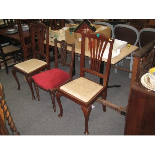 515 - Pair of Georgian style Mahogany Occasional Chairs...