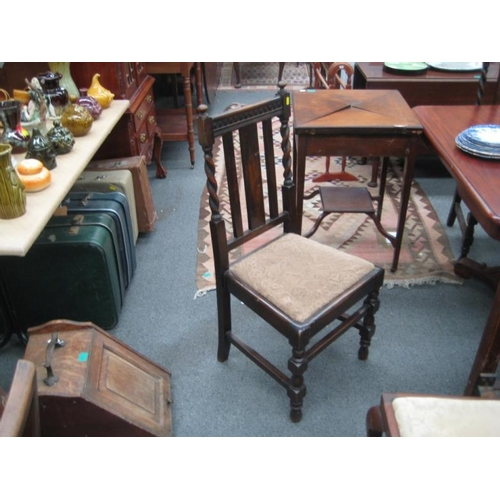 523 - Set of 4 Edwardian Oak Dining Chairs with Barley...