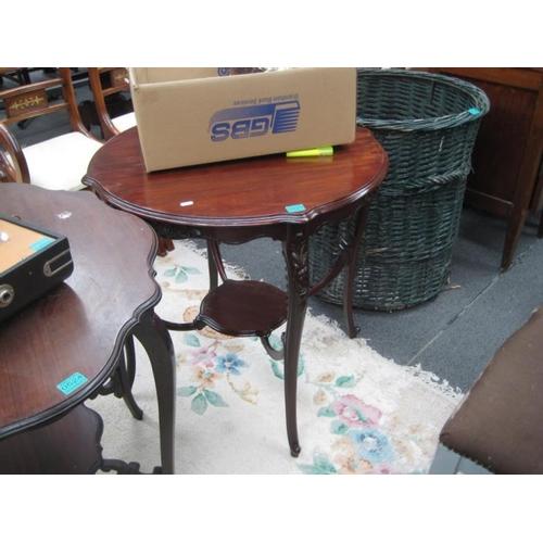 526 - Edwardian Mahogany Occasional Table on inswept...
