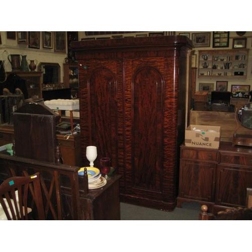 538 - Victorian Mahogany 2 Door Wardrobe...