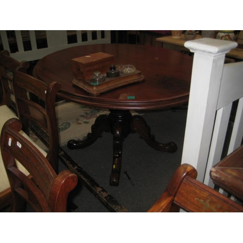 541 - Victorian Maogany Oval Supper Table on turned...