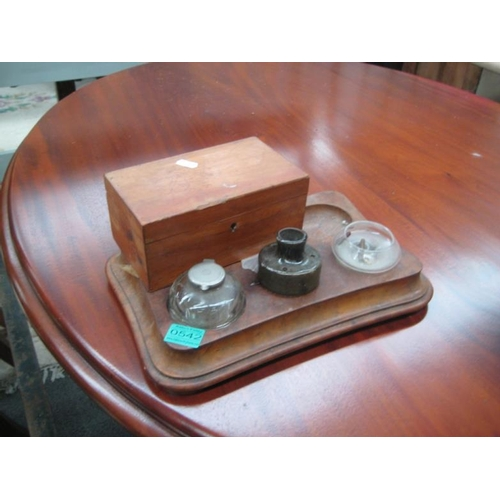 542 - Walnut Desk Stand and a Trinket Box...