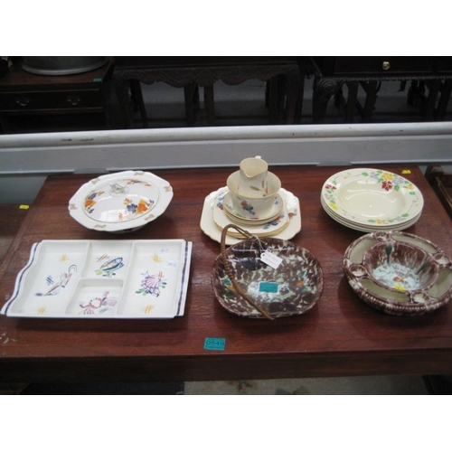 548 - 2 German Ceramic Dishes together with some...