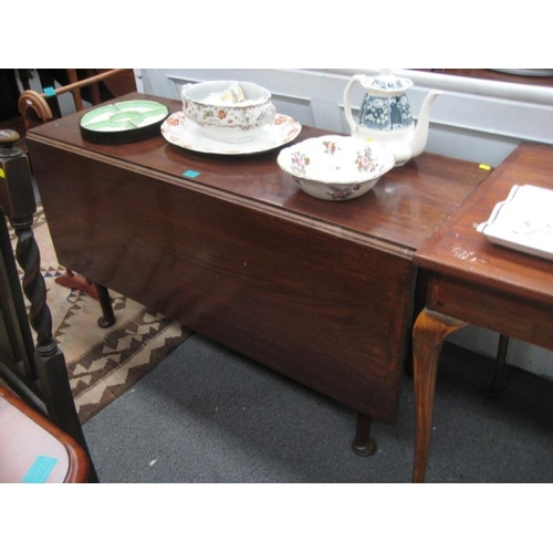 550 - Georgian Mahogany Drop Leaf Table on Pad Feet...