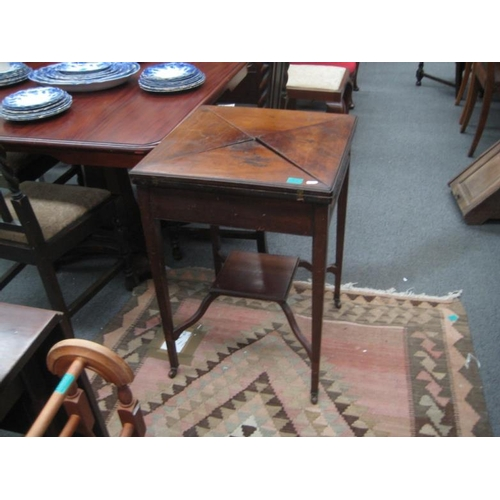 553 - Edwardian Mahogany Envelope Card Table...