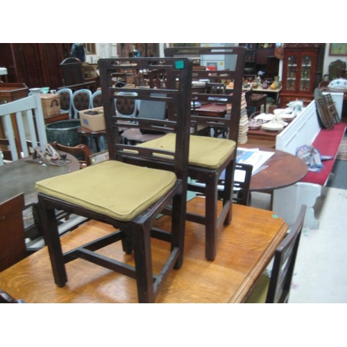 557 - Set of 6 Gerogian Ladder back Dining Chairs...
