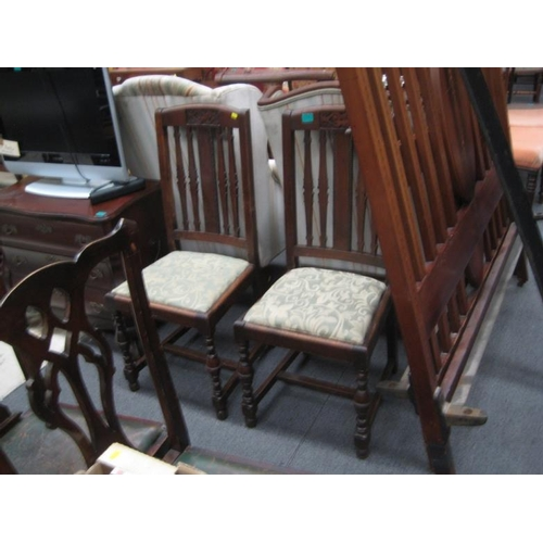 562 - Pair of Vintage Oak Occasional Chairs...