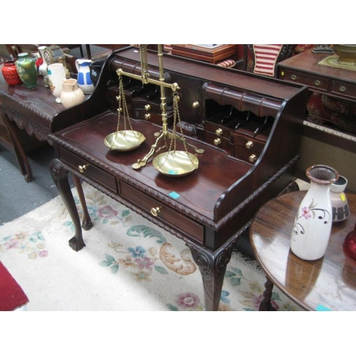 569 - Chippendale Style Mahogany Writing Desk...