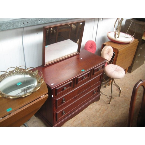 57 - Dressing Table, 3 Stools and a Drop Leaf Table...