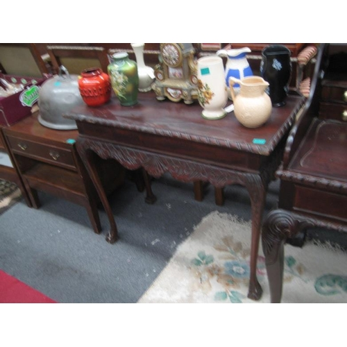 571 - Irish Georgian style Mahogany Side Table...